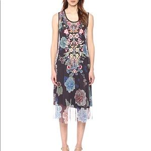 Johnny Was Floral Hahna Mesh Dress Size M NWT